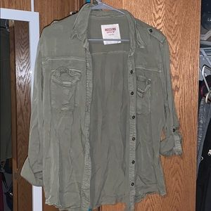 Olive Green Flannel Mossimo Supply Co. Size Large